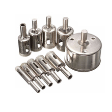 3-100mm Coated Diamond Drill Bit Set Ceramic Core Hole Saw Drilling Bits For Tile Marble Glass Opening Power Tools