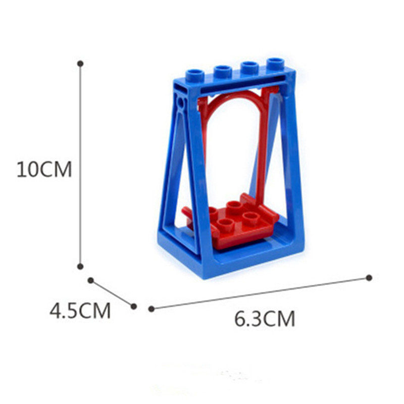 Big Size Diy Building Blocks Swing Dinosaurs Figures Animal Accessories Compatible With Bricks Toys For Children Gifts