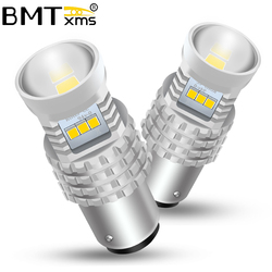 BMTxms 2Pcs Canbus For Peugeot 408 308 3008 RCZ Car LED DRL Daytime Running Light BAY15D 1157 P21/5W Auto Fog Lamp Accessories