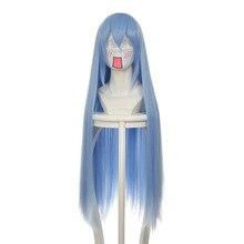 Парик для косплея аниме светло-голубой косплей прямые длинные волосы парик карнавал маскарадный парик термостойкий синтетический парик