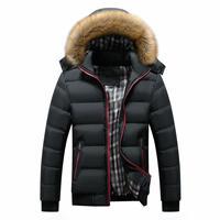 OLOEY 2019 Winter Fashion Jacket Men Hooded Thick Warm Cotton Jacket Zipper Splice Men's Cotton Clothing Coat Plus Size 6XL 7XL