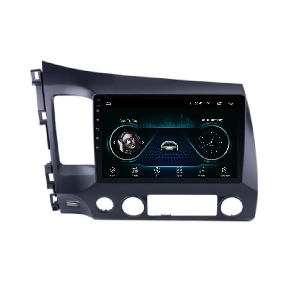 Quad core Android 8.1 Fit HONDA CIVIC 2008 2009 <font><b>2010</b></font> 2011 Multimedia Stereo Auto DVD Player Navigation GPS Radio image