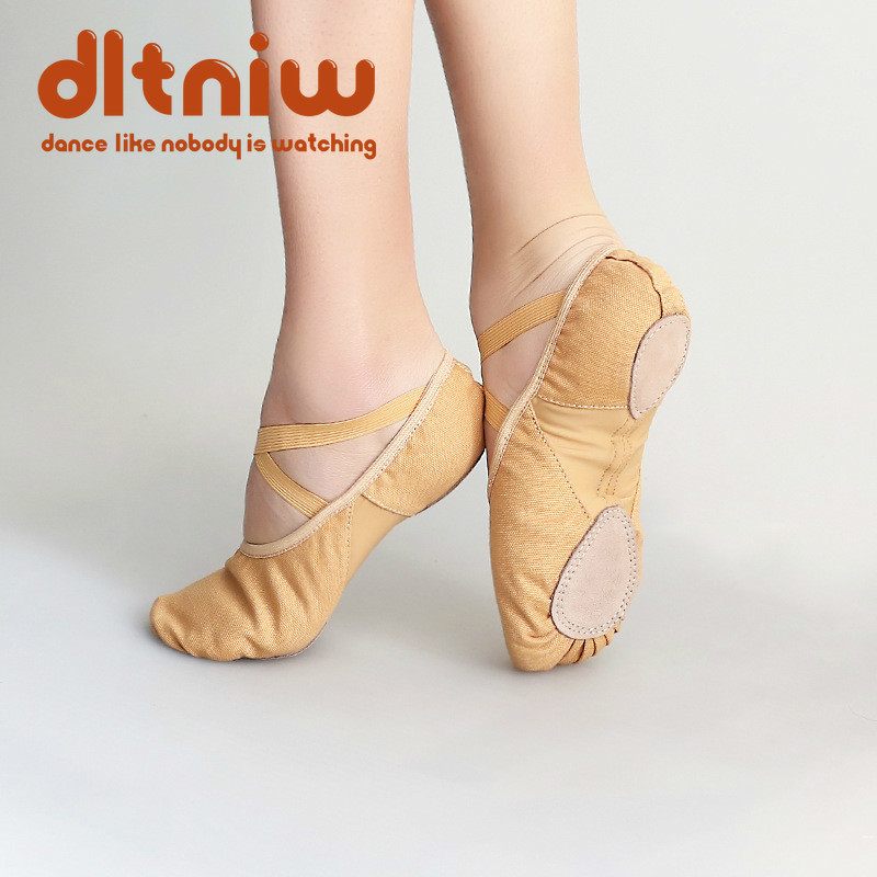 Women Modern Dance Dance Shoes Ballet Shoes Dancer's Song Female Adult Canvas Practice Soft Shoes Gymnastic Cat Claw Shoes