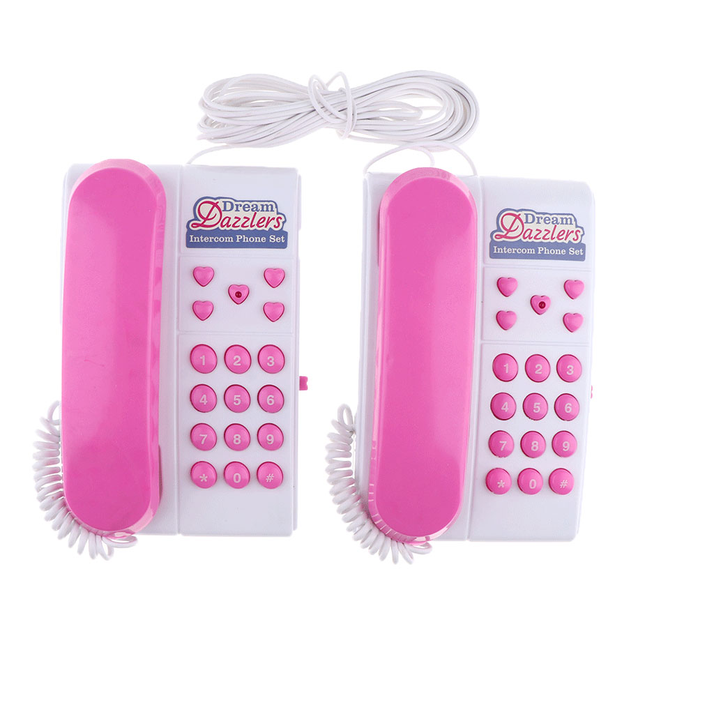 Wired Talk-Back Telephones Kids Intercom Set, Learning & Educational Toy Gift For Children, Toddler, 3 Age And Up
