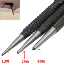 Punch-Set Center-Punch Wood-Drilling-Tool Alloy-Steel Metal 3pcs for High-Carbon Non-Slip