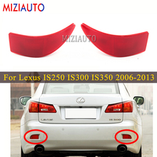 Tail Stop Brake lights For Lexus IS250 IS300 IS350 GSE20 2006-2013 Rear Bumper Reflector light Without Bulb False Decorative fit 06 13 lexus is250 is350 4dr in s style poly urethane rear bumper lip