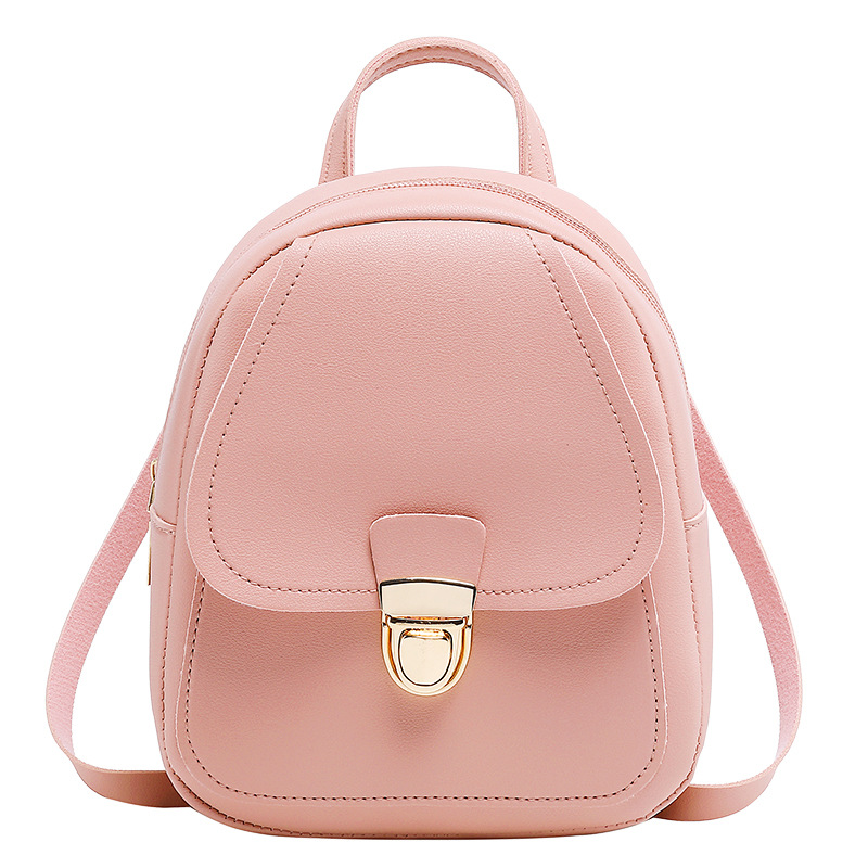 Women's Leather Backpack Fashion Mini Backpack School Bags For Teenage Girls Bagpack Cute Small Female Backpack Mini Mochila