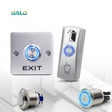 GALO interruttore a pulsante anulare in metallo anello LED luce senza sistema di controllo accessi porta COM interruttore di uscita pulsante di uscita