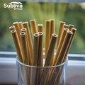 10 teile/satz Bambus Strohhalm Reusable 20cm Organischen Bambus Trinkhalme Natürliche Holz Strohhalme Für Party Geburtstag Hochzeit Bar Werkzeug auf