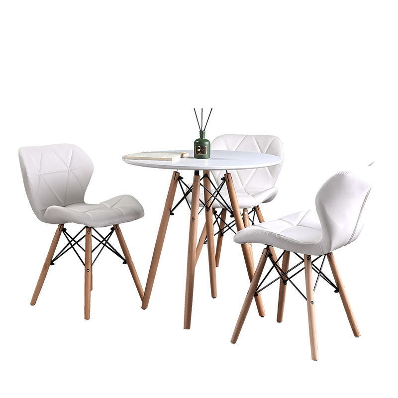 Table Solid Wood Nordic Fashion Dining Table Simple Modern Plate Table Casual Coffee Table Reception Negotiation Table