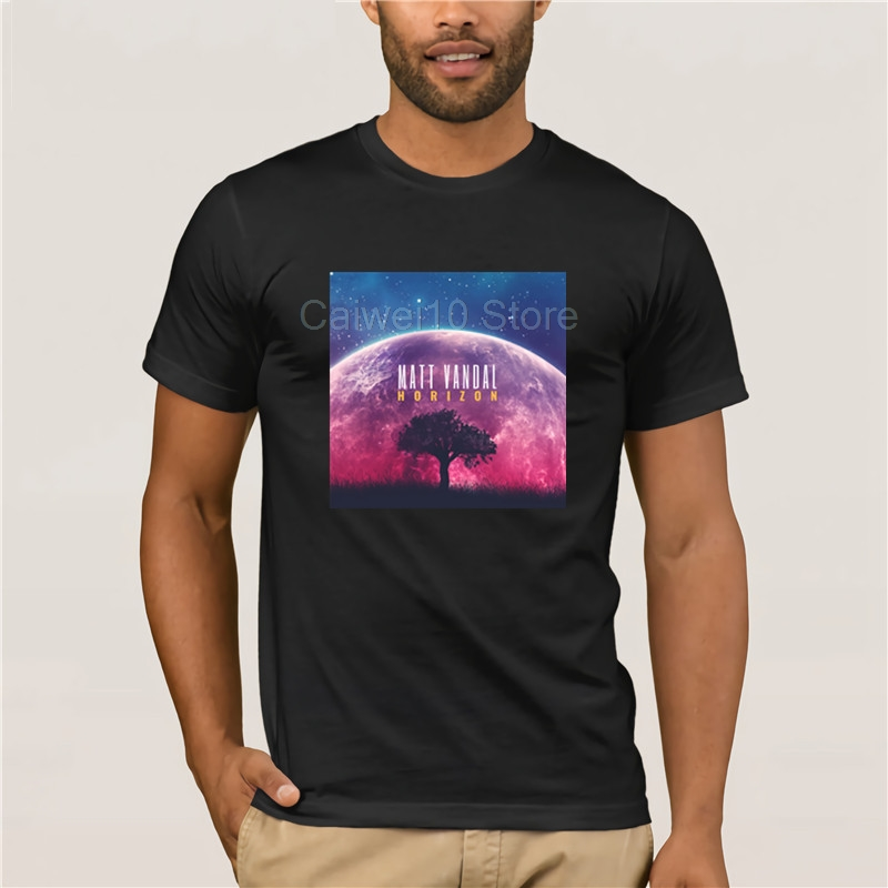 Men Printing Tshirt trend Matt Vandal Horizon Album Cover Jazz T Shirt for mans image