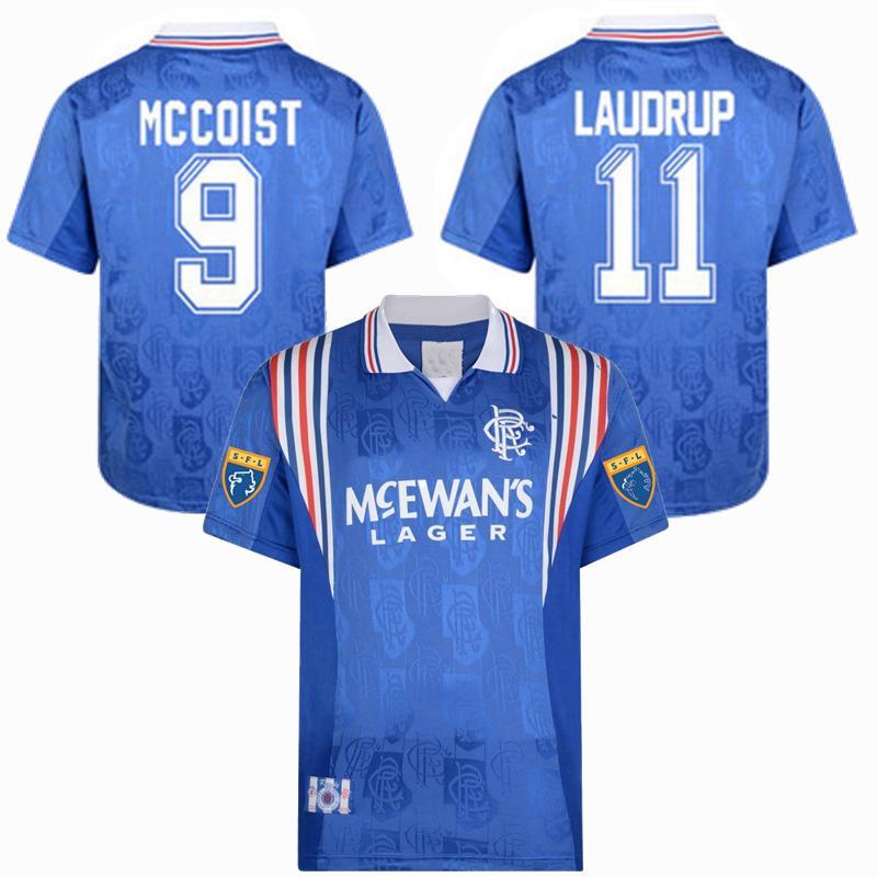 Retro Classic 1996 1997 Rangers Soccer Jersey VICENTE MCCOIST LAUDRUP GASCOIGNE 96/97 Football Sports Shirt S-2XL