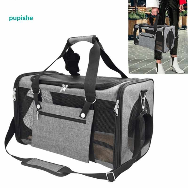 Breathable Pet Dog Carrier Fashion Pets Handbag Portable Small Cat Carriers Dogs Outdoor Travel Bag Side Carry Bags 3 Colors