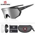 Поляризованные спортивные солнцезащитные очки Queshark с 3 сменными линзами для мужчин и женщин  для велоспорта  бега  вождения  рыбалки  QE42