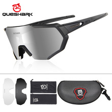 Queshark Polarized Sports Sunglasses with 3 Interchangeable