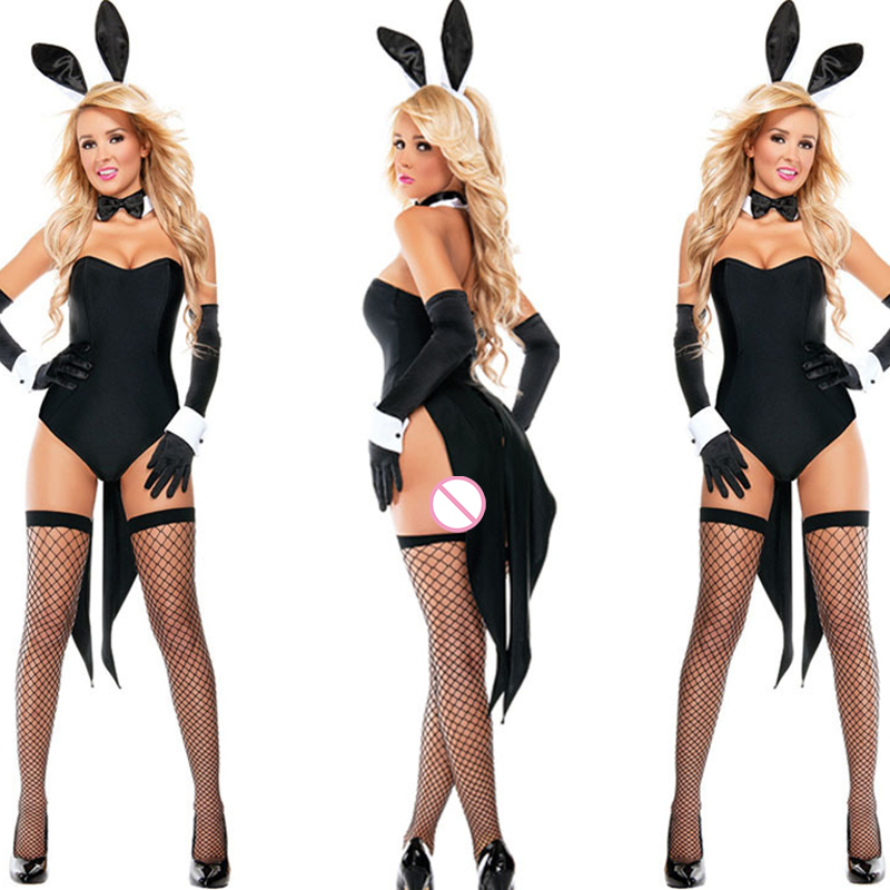HKMN New Bunny Girl Costumes For Women <font><b>Sexy</b></font> Lingerie <font><b>Cosplay</b></font> Clothes Baby Doll Clubwear Erotic Lingerie Set Hot Exotic Apparel image