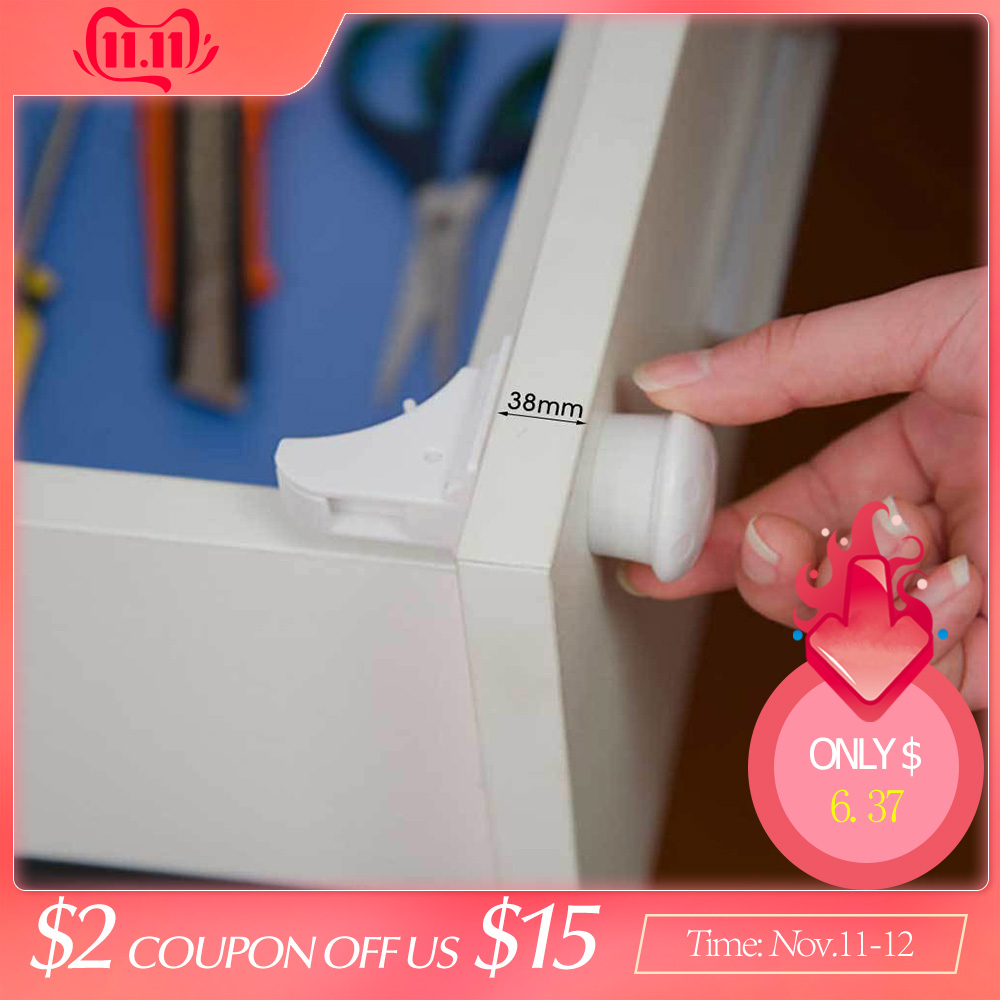 4+1 Magnetic Children Lock Baby Safety Baby Protection Cabinet Door Lock Kids Drawer Locker Security Invisible Locks Dropshiping