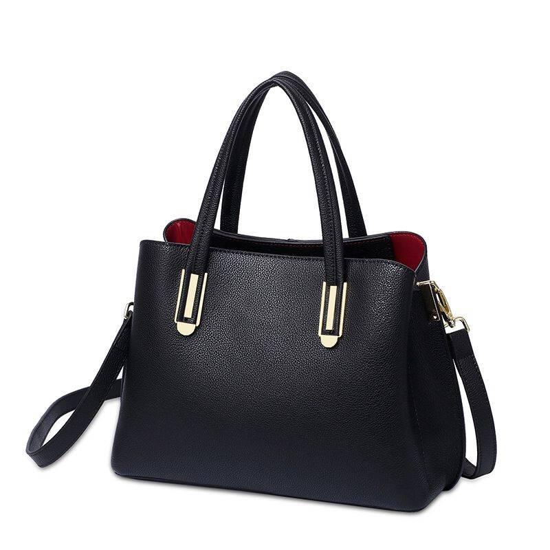 Leather Women's Bags 2020 New Korean Messenger Bag Fashion Ms. Handbag Head Layer Leather Middle-aged Mom Bag