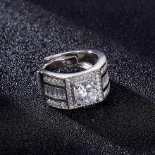 Мужское кольцо из стерлингового серебра s925 пробы обручальные