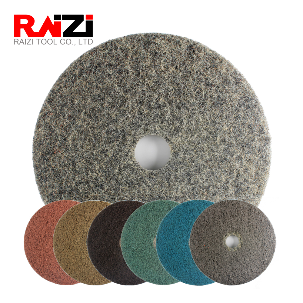 Raizi 11 Inch Diamond Impregnated Floor Polishing Pads Disc For Concrete Granite Marble On Floor Grinding Machine Grinder