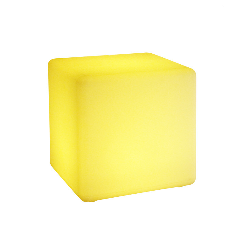 LED Luminous Stool Outdoor Luminous Furniture Creative Bar Chair Remote Control Colorful Cube KTV Square Stool