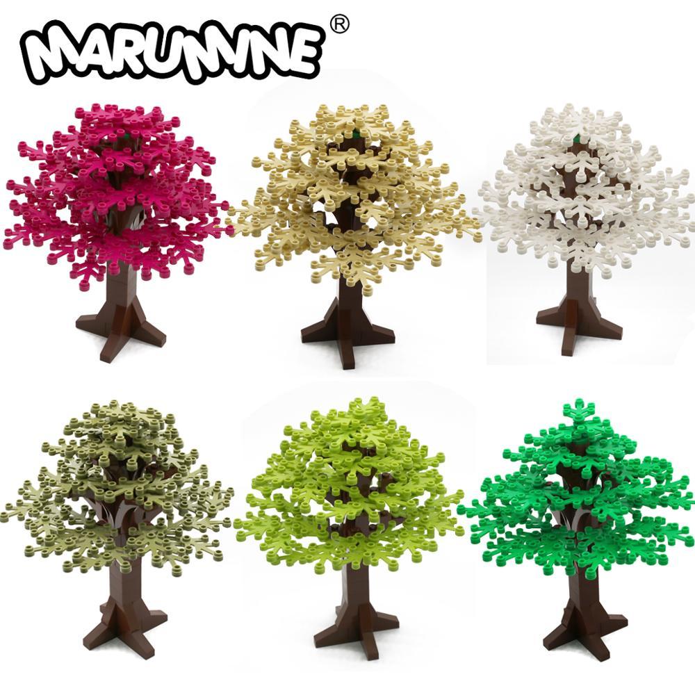 MARUMINE 90PCS Building Bricks Tree Sets Enlighten Blocks Natural & Technic 165 MM City Park Building Compatible Gift  For Kids