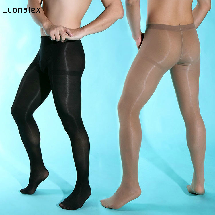 Mens Sexy Tights Men Sexy Pantyhose Sexy Stockings Fun Velvet 80d Thick Front Plus Crotch and Easy Opening Underwear Men Elastic image