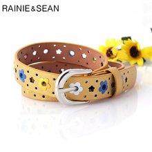 Детский ремень rainie sean flower для девочек с вырезами милый
