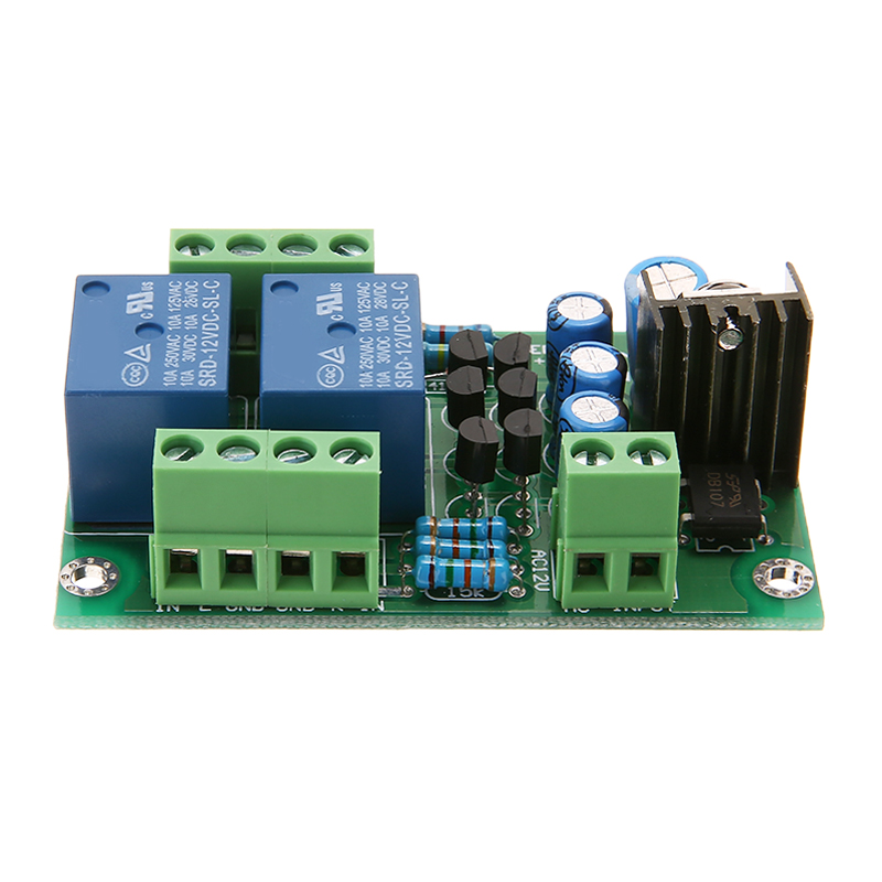 1pc Audio Speaker Protection Boards Assembled Stereo Loud Speaker Circuit Board Dual Channel Relay PCB Circuit Module 12-15V