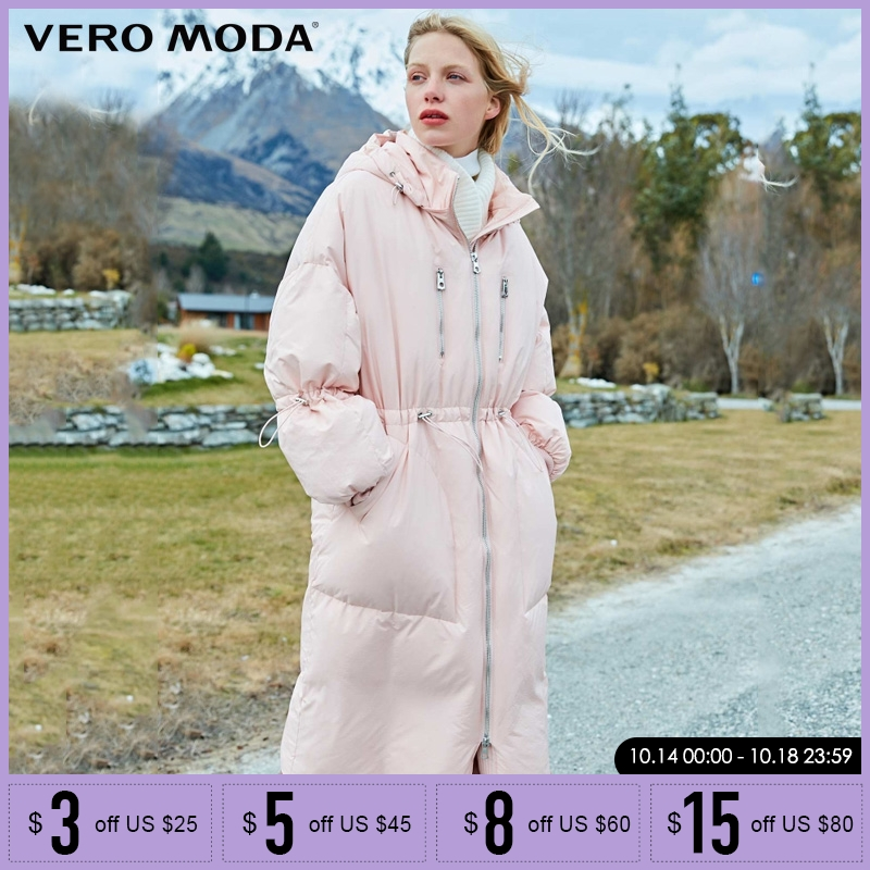 Vero Moda Winter new double zipper long down jacket   Parka   Coat| 318412514