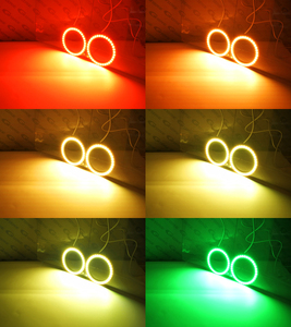 Image 4 - For Yamaha R1 YZF R1 2004 2005 2006 2007 2008 Excellent RF remote Bluetooth APP Multi Color Ultra bright RGB LED Angel Eyes kit