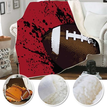 New 200X150/150X130CM 3D Rugby Printed Throw Blanket Sofa Bedding Blankets For Kids and Adults Blanket Cartoon Bedding