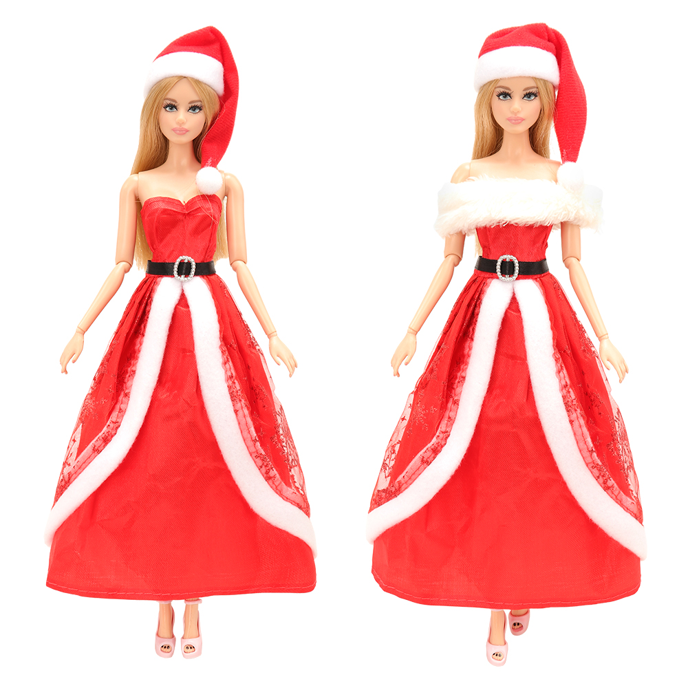 New Fashion Handmand Random Pick 3 Dresses/set Doll Accessories Christmas Dress Clothes For Barbie Doll Best DIY Gift For Kids