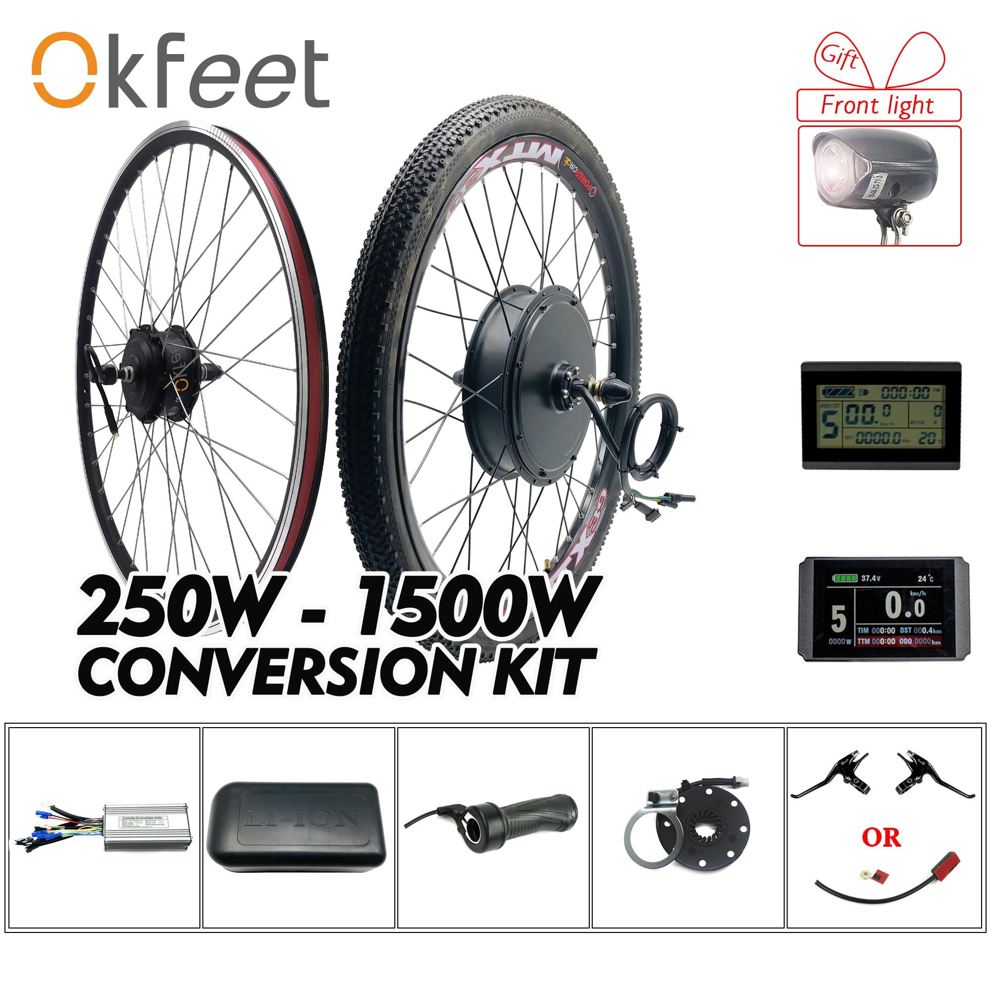 Front Rear Wheel Electric Bike Conversion Kit MTB Bicycle 36V 250W 1500W 48V