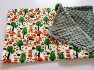 Image 4 - طفل بطانية قبعة بطانية الربيع الطفل طباعة الثعلب الفانيلا المرجان بطانية بطانية مكيف الهواء بطانية للأطفال 75*120 سنتيمتر