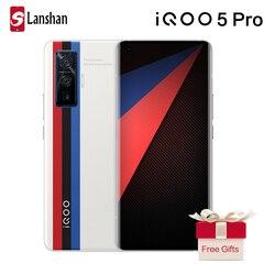 Оригинальный vivo IQOO 5 Pro Snapdragon 865 5G мобильный телефон 8 Гб 256 ГБ 50MP 120 Вт тире зарядка 120 Гц частота обновления Android 10 мобильный телефон