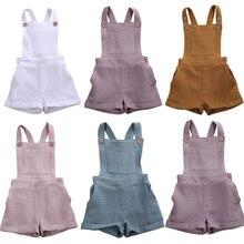 Bib Overall Romper Suspender-Pants Toddler Girls Baby Boys Solid-Color Infant Unisex