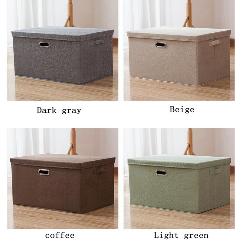 Купить с кэшбэком Storage Box Fabric Simple Storage Box Covered Clothing Box Office Supplies Finishing Box Thicken Folding Wardrobe Storage Box Mo