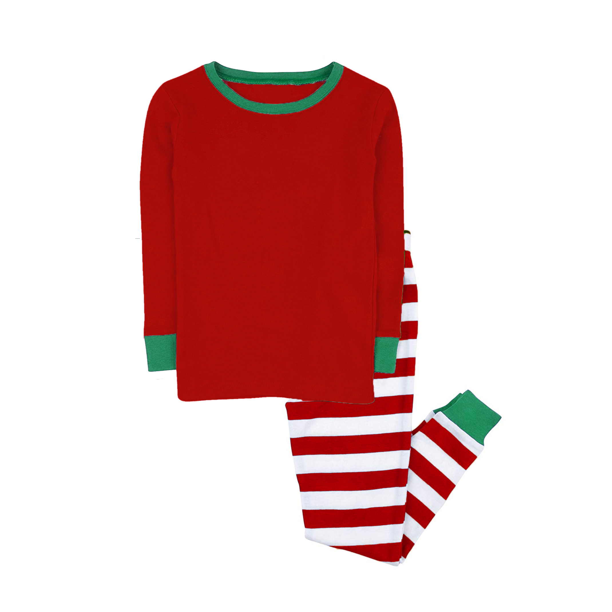 100% cotton boys and girls Christmas stripe pajamas kids sleepwear children pyjamas clothes 5