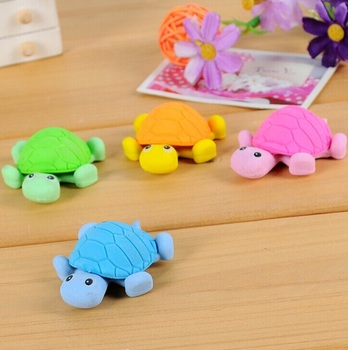 1pcs/pack New Cute Turtle Style Eraser Funny Eraser Office&Study Rubber Erase Kids Gifts image