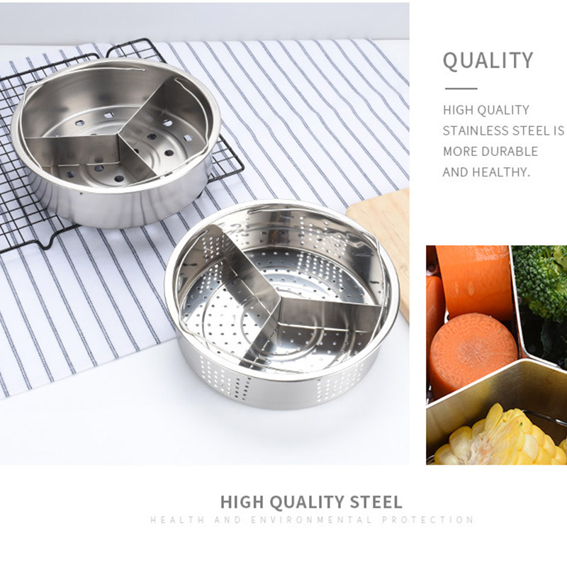 Hot Stainless Steel Pot Steamer Basket Egg Steamer Rack Divider For Pressure Cooker Pot XJS789