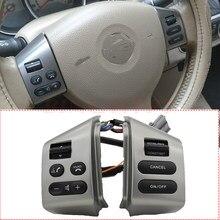 Para sylphy & para nissan livina & para tiida botões de controle do volante um par com cabos botão prata com luz de fundo