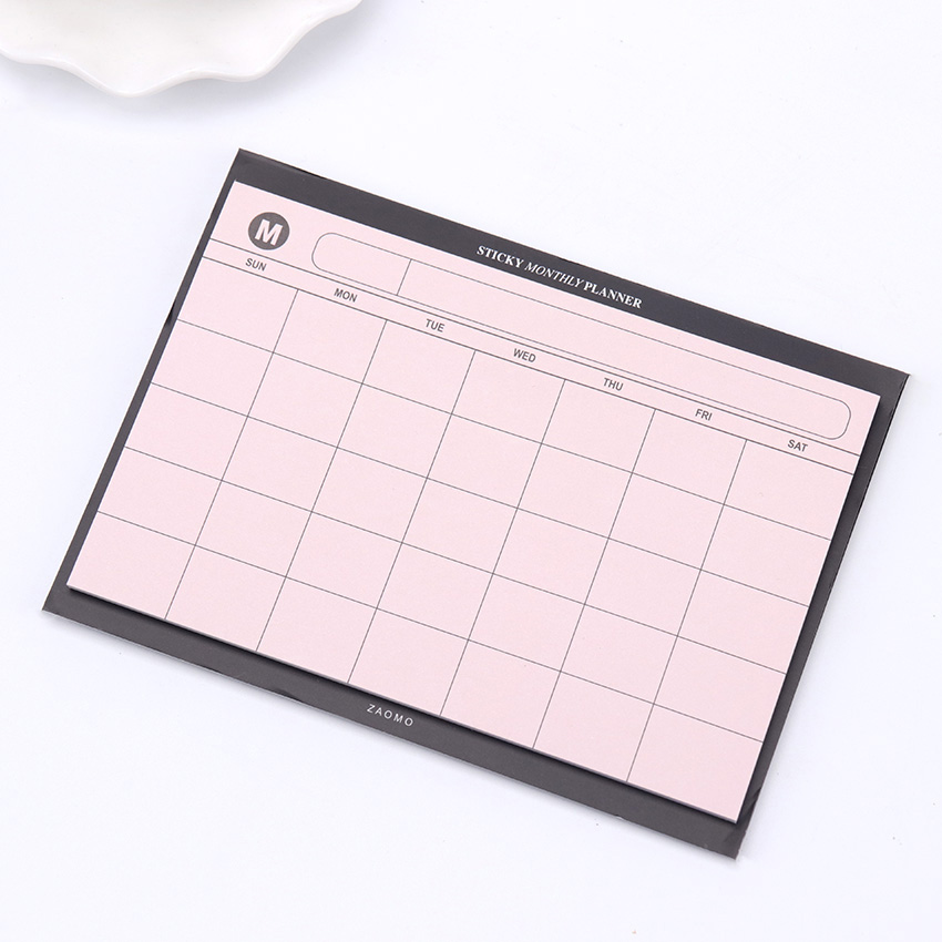 1PC/30 Sheets Creative Simple Weekly Planner Book Desktop Schedule Month Plan Tear The Notebook Office Summary Plan 5
