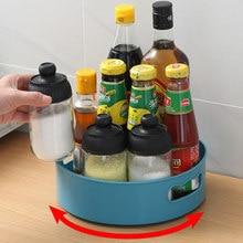 360 rotativa bandeja cozinha recipientes de armazenamento para spice jar lanche comida bandeja não deslizamento banheiro caixa de armazenamento cosméticos organizador