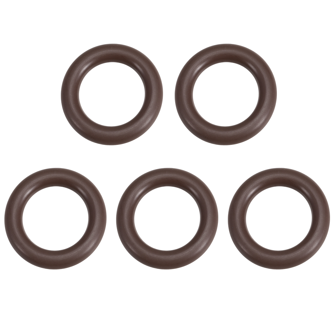 uxcell 5 Pcs Fluororubber Gasket Sanitary Tri Clamp Washer 24mm x 14mm O-Ring