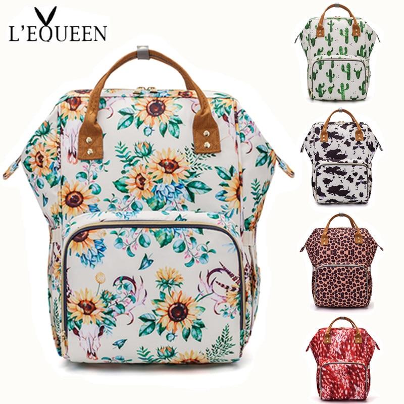 LEQUEEN Diaper Bag Baby Care Backpack Travel Bag Waterproof Antifouling Backpack Stroller Bag Nappy Bag Stroller Bag