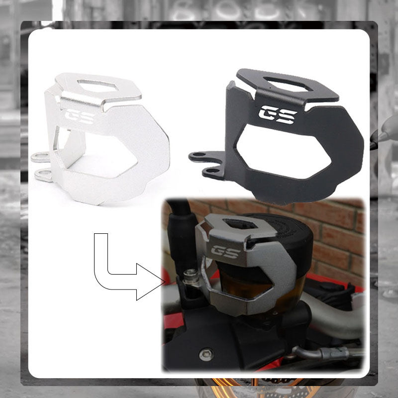 For BMW F800GS F700GS F800 F700 F 800 <font><b>700</b></font> <font><b>GS</b></font> 2013-2018 <font><b>2017</b></font> 2016 Motorcycle Rear Brake Fluid Eeservoir Guard Cover Protector image