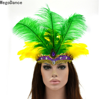 New Feather Headdress Feather Headband for Men and Women Belly Dance Cosplay