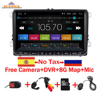 9 Android 9.0 Car DVD GPS Navigation for VW Volkswagen SKODA GOLF 5 Golf 6 POLO PASSAT B6 JETTA TIGUAN dvd player BT RDS