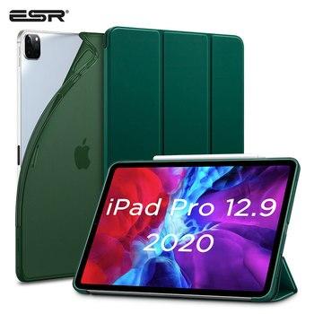 цена на ESR for iPad Pro 12.9 Case 2020 Soft TPU Cover for iPad Pro 2020 11 inch 12.9 Case Auto Wake Sleep Smart Case Back Cover Funda